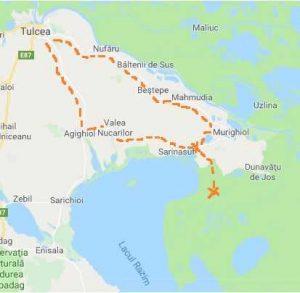 Cazare în Delta Dunării acces auto și transfer cu barca la pensiune