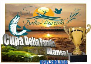Afis concurs de pescuit sportiv Cupa Delta Paradis